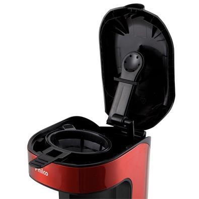 Cafeteira Philco Single Thermo, Copo Térmico, 600W, 220V, Inox/Vermelha - 53902051