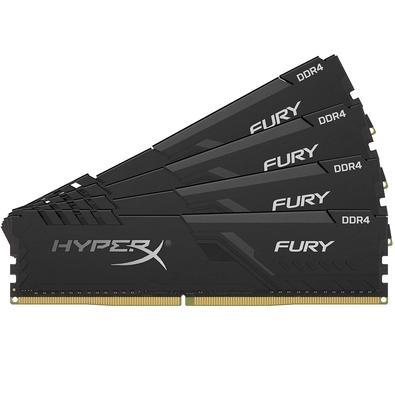 Memória HyperX Fury, 128GB (4x32GB), 2666MHz, DDR4, CL16, Preto - HX426C16FB3K4/128