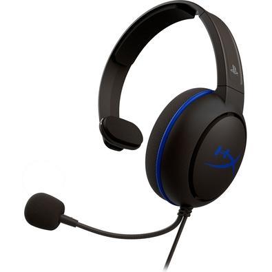 Headset Gamer HyperX Cloud Chat, Drivers 40mm, PS5 e PS4, P3, Preto e Azul - HX-HSCCHS-BK/AM