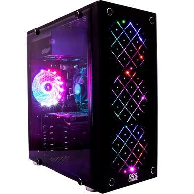 Gabinete Gamer Oex Vortex, Mid Tower, LED, com FAN, Lateral em Acrílico, Frontal em Vidro - GH100