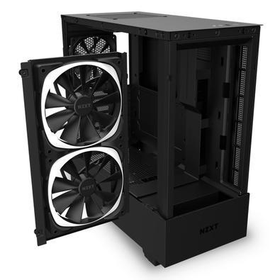 Gabinete Gamer NZXT H510 Elite, Mid Tower, RGB, com FAN, Lateral e Frontal em Vidro - CA-H510E-B1