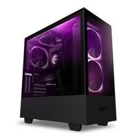 Gabinete Gamer NZXT H510 Elite, Mid Tower, RGB, com FAN, Lateral e Frontal em Vidro - CA-H510E-B1
