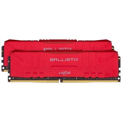 Memória Crucial Ballistix Sport LT, 32GB (2X16), 3000MHz, DDR4, CL15, Vermelha - BL2K16G30C15U4R