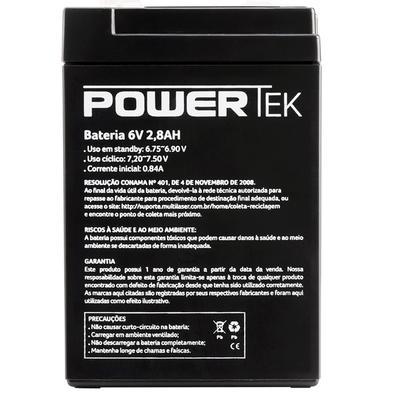 Bateria Powertek 6V, 2.8Ah - EN002
