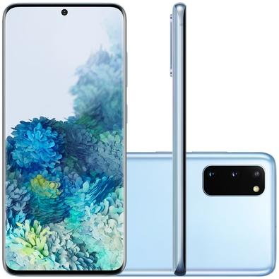 Smartphone Samsung Galaxy S20, 128GB, 64MP, Tela 6.2´, Cloud Blue + Capa Protetora - SM-G980FLBJZTO