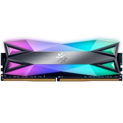 Memória XPG Spectrix D60G, RGB, 8GB, 4133MHz, DDR4, CL19, Cinza - AX4U413338G19J-ST60
