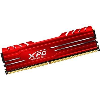Memória XPG Gammix D10, 8GB, 3600MHz, DDR4, CL18, Vermelho - AX4U360038G18A-SR10