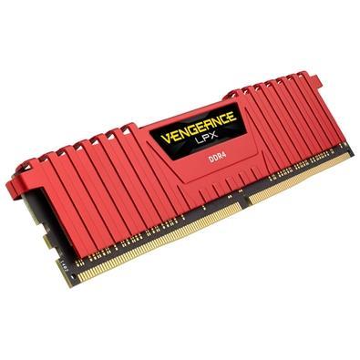 Memória Corsair Vengeance LPX 32GB (4x8GB) 2666Mhz DDR4 C16 Red - CMK32GX4M4A2666C16R