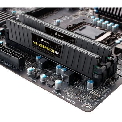 Memória Corsair Vengeance LP 4GB (2x2GB) 1600Mhz DDR3 C9 Black - CML4GX3M2A1600C9