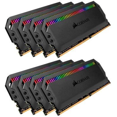 Memória Corsair Dominator RGB 64GB (8x8GB) 3600MHz  DDR4  C16 Ryzen Black - CMT64GX4M8Z3600C16