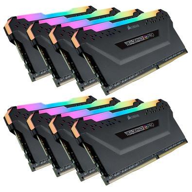 Memória Corsair Vengeance RGB Pro 128GB (8x16GB) 3200MHz DDR4 C16 Black - CMW128GX4M8C3200C16