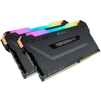 Memória Corsair Vengeance RGB Pro 16GB (2x8GB) 4266MHz DDR4 C19 Black - CMW16GX4M2K4266C19