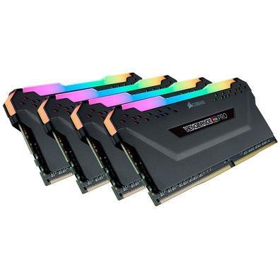 Memória Corsair Vengeance RGB Pro 64GB (4x16GB) 3600MHz DDR4 C18 Black - CMW64GX4M4K3600C18