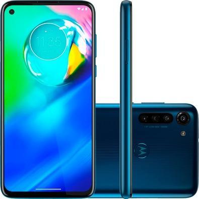 Smartphone Motorola Moto G8 Power, 64GB, 16MP, Tela 6.4´, Azul Atlântico + Capa Protetora - PAHE0000BR