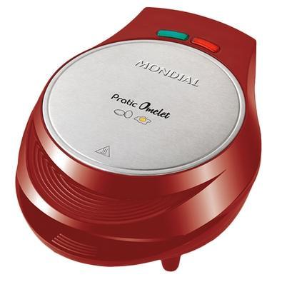 Omeleteira Elétrica Mondial Pratic Omelet, 1000W, 220V, Vermelho - OM-03