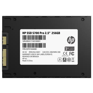 SSD HP S700 Pro, 256GB, SATA, Leituras: 560Mb/s e Gravações: 520Mb/s - 2AP98AA#ABL