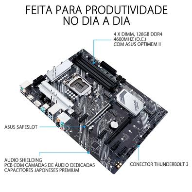 Placa-Mãe Asus Prime Z490-P, Intel LGA 1200, ATX, DDR4