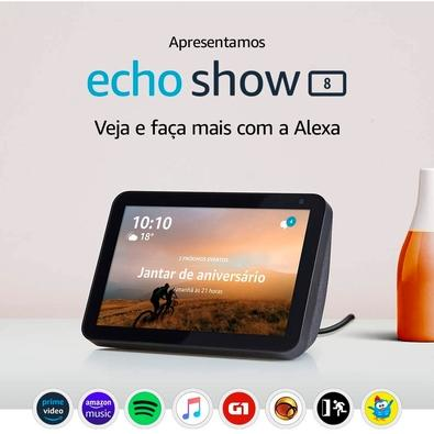 Amazon Smart Home Echo Show 8, Tela 8´, Alexa, Branco - B07SMN7FVL