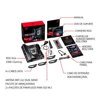 Placa-Mãe Asus ROG Strix Z490-I Gaming, Intel LGA 1200, Mini-ITX, DDR4