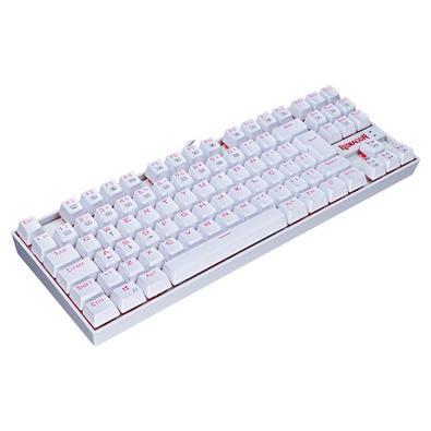 Teclado Mecânico Gamer Redragon Kumara K552W, LED, Switch Redragon MK2 Red, ABNT2, Branco - K552W-2 (RED)