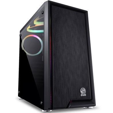 Gabinete Gamer PCYes Polaris, Mid Tower, RGB, com FAN, Lateral em Vidro - PLPTRGB3FV (33113)