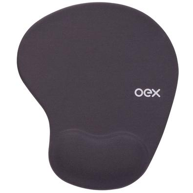 Mousepad OEX Gel Confort, Apoio de Pulso, Chumbo - MP200