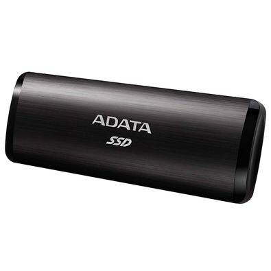 SSD Externo Adata, 256GB, USB 3.2 Gen 2 com Type C, Leitura de Até 1000MB/s, Preto - ASE760-256GU32G2-CBK