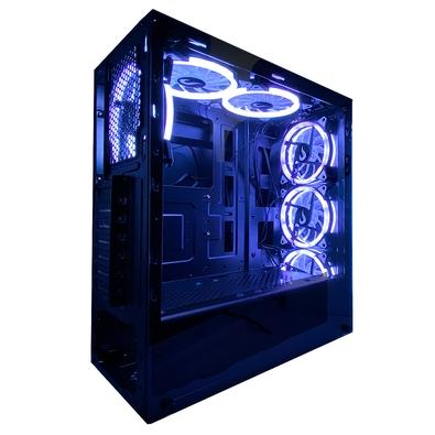 Gabinete Gamer Rise Mode Glass 06, Mid Tower, RGB, com 6 Fans, Lateral e Frontal em Vidro - RM-CA-06-RGB