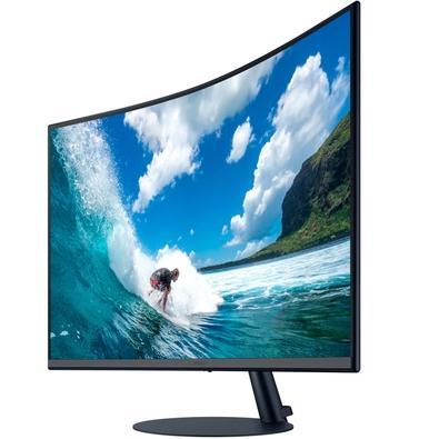 Monitor Samsung LED 31.5´, Curvo, HDMI, FreeSync, 4 ms, Inclinação Ajustável - LC32T550FDLXZD
