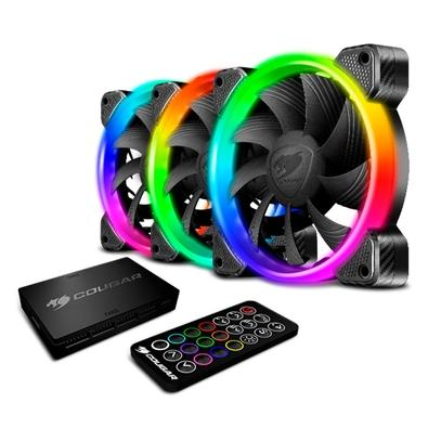 Kit 3 Cooler FAN Cougar HPB 120, 360mm, RGB - 3MHPBKIT.0001