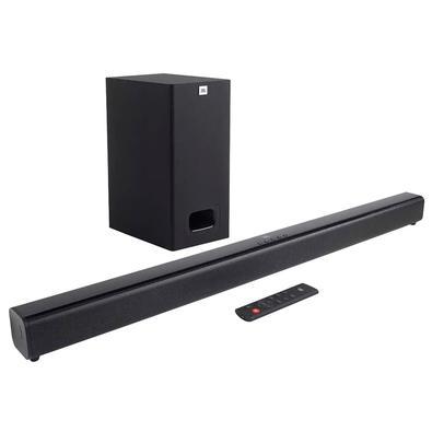 Soundbar JBL Cinema SB130, 2.0 Canais, Bluetooth, Subwoofer com Fio, 55W RMS - JBLSB130BLKBR