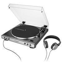 Toca Discos Audio-Technica Automático, Belt-Drive, Fone de Ouvido, Grafite - AT-LP60XHP-GM