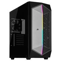 Gabinete Corsair Gamer 470T, RGB, Mid Tower, com FAN, Lateral em Vidro - CC-9011215-WW