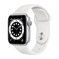 Apple Watch Series 6, GPS, 40mm, Prata, Pulseira Branca Esportiva - MG283BE/A