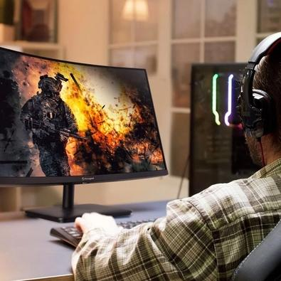 Monitor Gamer Acer Aopen 27´, Curvo, Zero Frame, Full HD, HDMI/Display Port, 165Hz, 5ms, AMD Radeon FreeSync Premium - 27HC5R