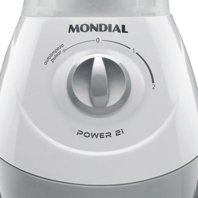 Liquidificador Mondial Power 2, 2 Velocidades, 550W, 220V, Branco e Cinza - NL-26