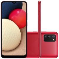 Smartphone Samsung Galaxy A02s, 32GB, RAM 3GB, Octa-Core, Câmera Tripla, Vermelho - SM-A025MZRVZTO