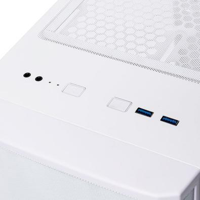Gabinete Gamer Bitfenix NOVA MESH TG, 4x FANS ARGB, Branco - BFC-NVM-300-WWGKW-4A