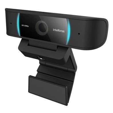 Webcam Intelbras Full HD, USB, 2x Microfones Bilaterais, Fecho de Privacidade, Preto - CAM-1080p