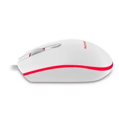Mouse Gamer Multilaser, 2400DPI, LED de 7 Cores, USB 2.0, Branco - MO299