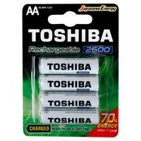 Pilha Recarregável AA Toshiba, 4x Unidades, 2600mAH - 72475