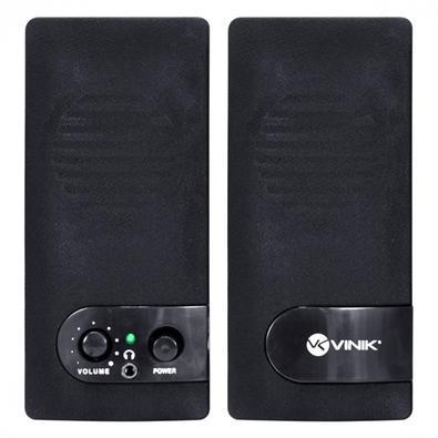 Caixa de Som Vinik 2.0 VS-202, 6W, Conexão P2 e USB, USB, Preto - 29675