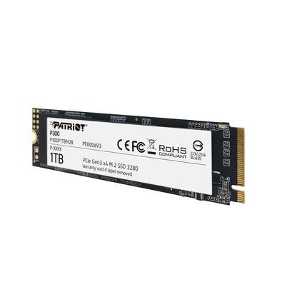 SSD Patriot P300 1TB, M.2 2280 PCIe Gen3x4, Leitura: 2100MB/S e Gravação: 1650MB/s - P300P1TBM28
