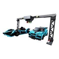 LEGO Speed Champions - Formula E Panasonic - Jaguar Racing GEN2 Car & Jaguar I-PACE eTROPHY, 565 Peças - 76898