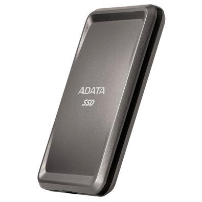 SSD Externo Adata SC685P 1TB, USB 3.2 Tipo C, Resistente à Choque, Titanium Gray - ASC685P-1TU32G2-CTI