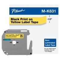 Fita Brother MK631 12mm, Compatível com PT70, PT70BM e PT80, Amarelo