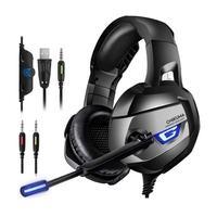Headset Gamer K5 Onikuma com Microfone, Entrada USB e P2, Compatível com PS4, Xbox One, Celular e PC