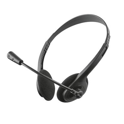 Headset Trust Primo, Conexão 3.5mm, Cabo de 1.8m com Controle de Volume, Preto - 21665