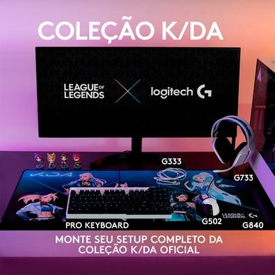 Teclado Mecânico Gamer Logitech G PRO K/DA Layout US, RGB, TKL, Cabo Destacável, GX Brown Tactile, Edição League of Legends KDA - 920-010074