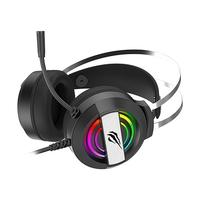 Headset Gamer Havit RGB, Conexão 3.5mm e USB, Driver 50mm, Preto- HV-H2026D